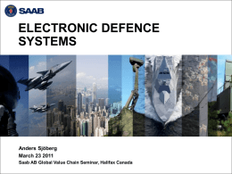 SAAB Electronic Defence Systems - Atlantic Alliance Aerospace