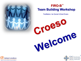 FIRO-B Team Building Workshop - CTR training and consultancy