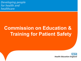 Commission on Education & Training for Patient Safety