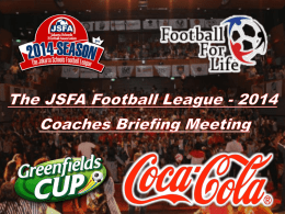 clicking on the Briefing Meeting - Jakarta School Football League