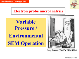 "Variable Pressure (""Environmental"") SEM work"