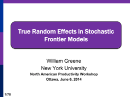 True Random Effects in Stochastic Frontier Models