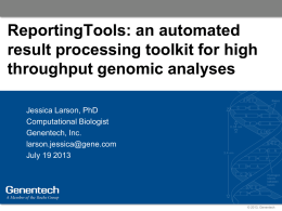 ReportingTools: an automated result processing