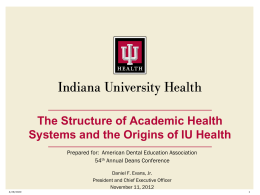 IU Health and the Transformation of U.S. Health Care
