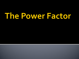 Power Factor Powerpoint