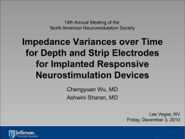 Impedance Variances over Time for Depth and Strip Electrodes for