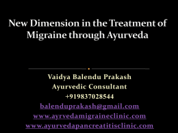to view - Ayurveda Migraine Clinic