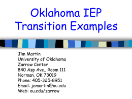 Sample OK IEP Sections