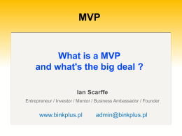 What is a MVP and what`s the big deal.