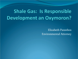 Shale Gas - Slow Down Fracking in Athens County (SD
