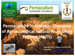 ANTS-Somalia - Permaculture Research Institute
