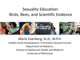 Sexuality Education – add to title!