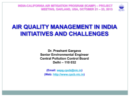 Initiatives and Challenges - Dr. P. Gargava