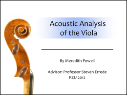 Acoustic Analysis of the Viola (MS Powerpoint Presentation)