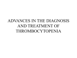 Thrombocytopenia - Jacobi Medical Center
