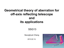 Geometrical theory of aberration for off-axis reflecting