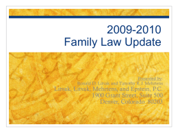 2008-2009 Family Law Update
