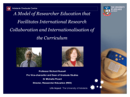 A Model of Researcher Education that Facilitates International