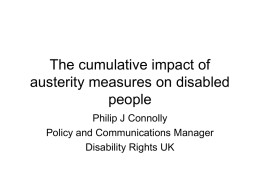 The cumulative impact of austerity measures on disabled people