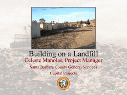 Building on a Landfill - County General Services Association