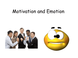 Motivation and Emotion - AP Psychology Community