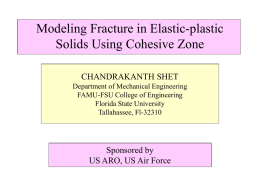 Modeling Fracture in Elastic-plastic Solids Using Cohesive Zone