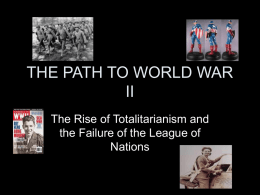 THE PATH TO WORLD WAR II
