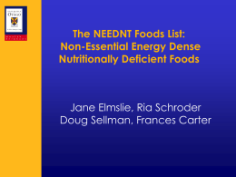 The NEEDNT Food List