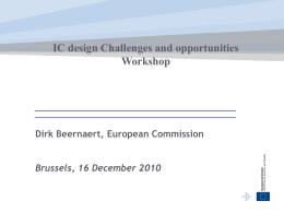 IC design Challenges and opportunities Workshop - CORDIS