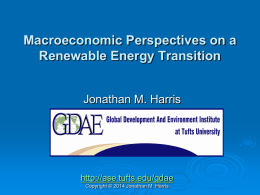Macroeconomic Perspectives on a Renewable Energy Transition