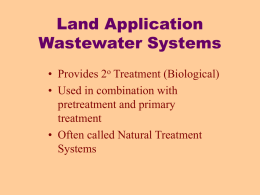 Land Treatment Wastewater Treatment Systems