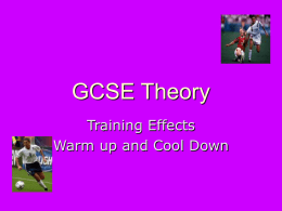 GCSE theory (trainign effects)