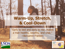Warm-Up, Stretch and Cool-Down PowerPoint