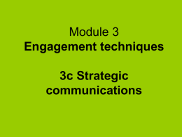 SP Module 3c Strategic communications