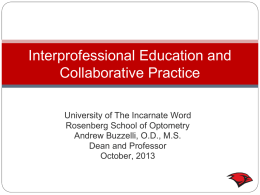 Interprofessional Education and Collaborative Practice at University