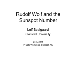 Rudolf Wolf and the Sunspot Number