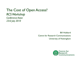 The Cost of Open Access
