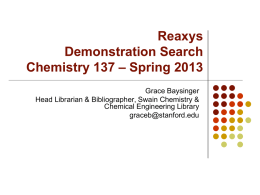 Reaxys Demonstration Search Chemistry 137