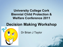 Dr Brian Taylor - Biennial Child Protection and Welfare Social Work