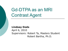 Gd-DPTA as a MRI contrast Agent