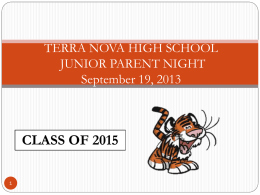 terra nova high school graduation requirements