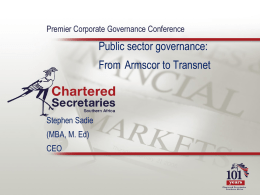 CEO fired - Chartered Secretaries Southern Africa
