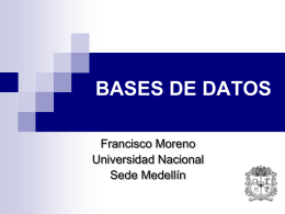 Bases de Datos - Universidad Nacional de Colombia