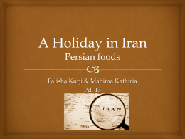 A Holiday in Iran