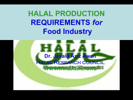 Prof. Dr. Javaid Aziz Awan - Halal Production Requiremnts