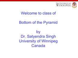 Bottom of the Pyramid - University of Winnipeg