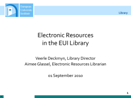 E-Resources Introduction