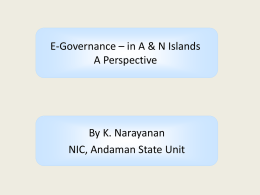 E-Gov - Andaman and Nicobar Islands
