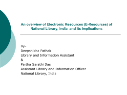 An overview of Electronic Resources (E