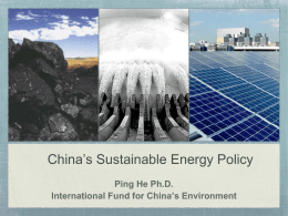 China`s Energy - Ifce.org - International Fund for China`s Environment